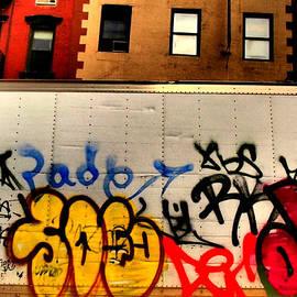 Graffit with Taxi by Miriam Danar