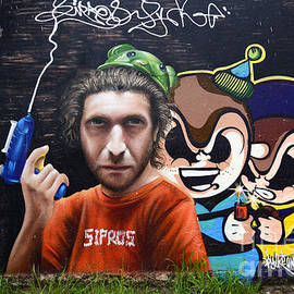 Graffiti Art Curitiba Brazil 12 by Bob Christopher