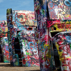 Graffiti at the Cadillac Ranch Amarillo Texas