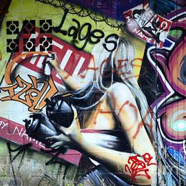 Grafitti Art Florianopolis Brazil 1 by Bob Christopher