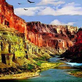 California Condors Grand Canyon Colorado River by Bob and Nadine Johnston