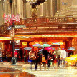 Grand Central Station in the Rain - New York by Miriam Danar