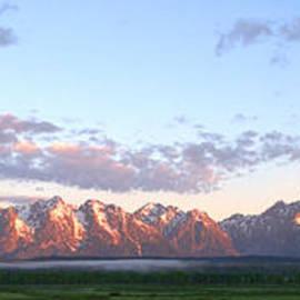 Grand Teton Sunrise Panorama by Brian Harig