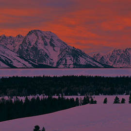 Stephen  Vecchiotti - Grand Teton Winter Dusk