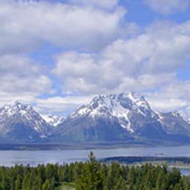 Grand Tetons Over Jackson Lake Panorama 2 by Brian Harig