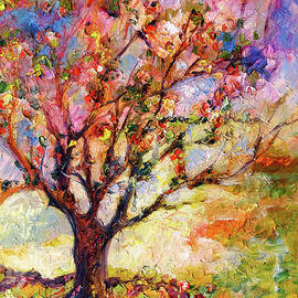 Impressionism Grandmas Apple Tree by Ginette Callaway