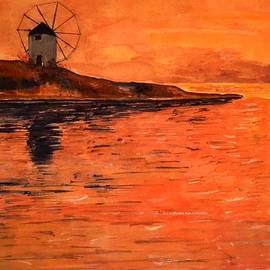 Dimitra Papageorgiou - Greek Landscape - Sunset