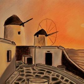 Dimitra Papageorgiou - Greek Landscape Windmills