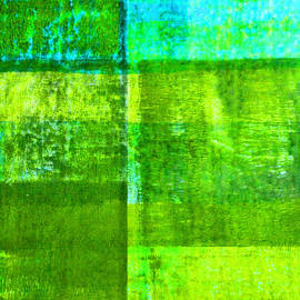 Nancy Merkle - Green Boxes Abstract