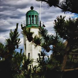 Jeff Folger - Green copper lantern room on Scituate lighthouse