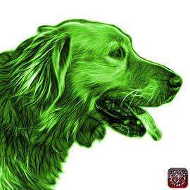 Green Golden Retriever - 4047 Fs by James Ahn