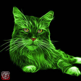 Green Maine Coon Cat - 3926 - Bb by James Ahn