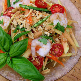 Green Papaya Salad with Shrimp by James Temple
