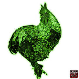 Green Rooster - 3166 Fs by James Ahn