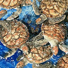 Green Sea Turtles by Pauline Walsh Jacobson