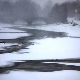 David Stone - Green Street Bridge in a Winter Storm
