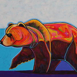 Joe  Triano - Grizzly At Sunset