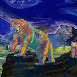 Teresa Ascone - Grizzly Bear and Cubs