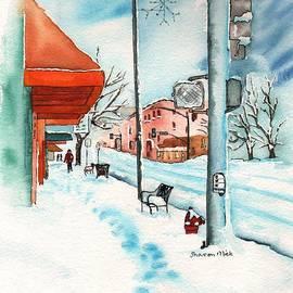 Sharon Mick - Gurley Street Prescott Arizona On a Cold Winters Day Western Town