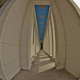 Hall Of State colonadde thru a fisheye by John Babis