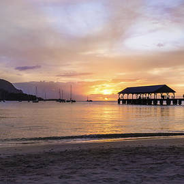 Hanalei Bay Pier Sunset 3 - Kauai Hawaii by Brian Harig