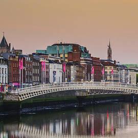 Ha'penny Bridge in the Morning - Dunlin Ireland by Bill Cannon