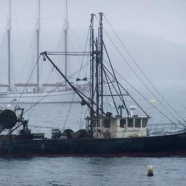 Harbor Ships by Gene Cyr