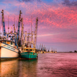 Harbor Sunset by Debra and Dave Vanderlaan
