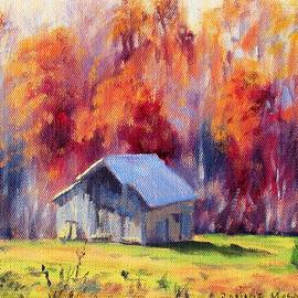 Hardy Road Barn- In Autumn by Bonnie Mason
