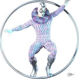 Harlequin tightrope by Quim Abella