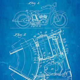 Ian Monk - Harley Davidson Horseshoe Oil Tank Patent Art 1938 Blueprint