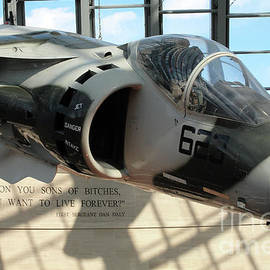 William Kuta - Harrier and Quote at the Marine Corps Museum