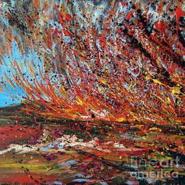 Roberto Gagliardi - Harsh Desert Fire Australian Abstract