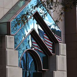 Hartford Flag Reflections by Mike Martin
