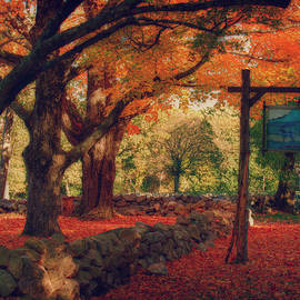 Hartwell Tavern Under Orange Fall Foliage by Jeff Folger