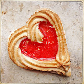 Heart shaped cookie square format