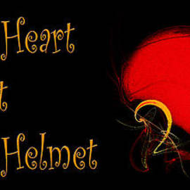 Heart To Heart Not Helmet To Helmet by Andee Design