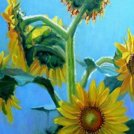 Heavenly Sunlight-Sunflowers in Sunlight by Bonnie Mason