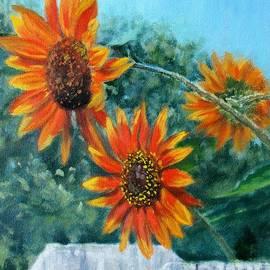 Bonnie Mason - Hello Neighbor-Sunflowers over the Fence