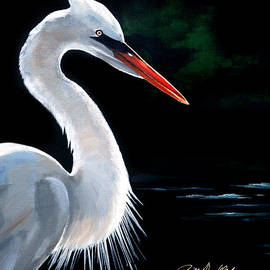 Heron at Midnight by Bill Dunkley