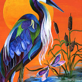 Heron Blue by Sherry Shipley