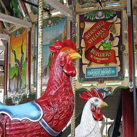 Herschell Spillman Roosters by Barbara McDevitt