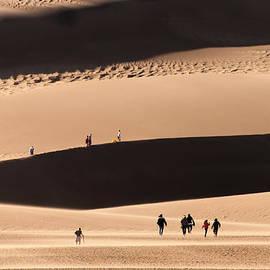 Hiking The Great Sand Dunes by Robert VanDerWal