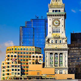 Historic Custom House Clock Tower - Boston Skyline by Mark Tisdale