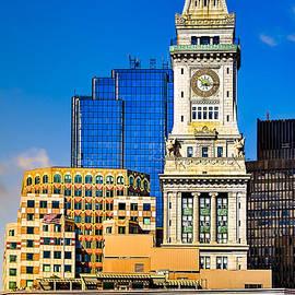 Historic Custom House Clock Tower - Boston Skyline by Mark E Tisdale