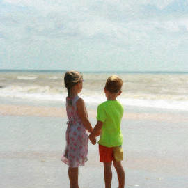 Holding Hands At Beach by Dean Wittle