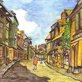 Carol Wisniewski - Honfleur France La Rue de La Bouille after Monet