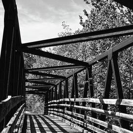 Sandi OReilly - Horse Pen Creek Bridge Black and White