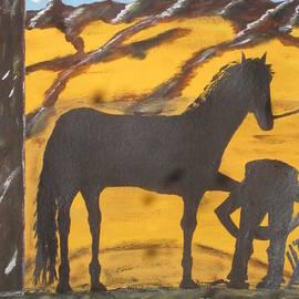 Jeffrey Koss - Horseshoeing Silhouette