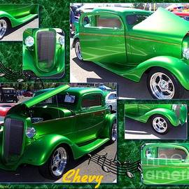Hot Apple Green Chevy Collage by Bobbee Rickard
